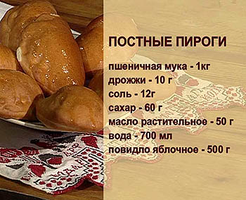 Постное тесто для пирога рецепты